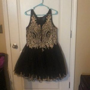 Black sequence formal dress